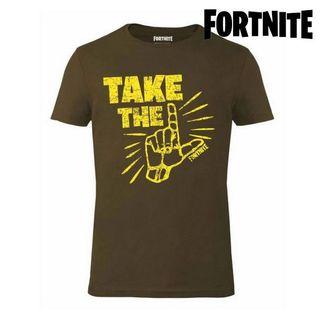 Camiseta de manga cortas kaki Fortnite
