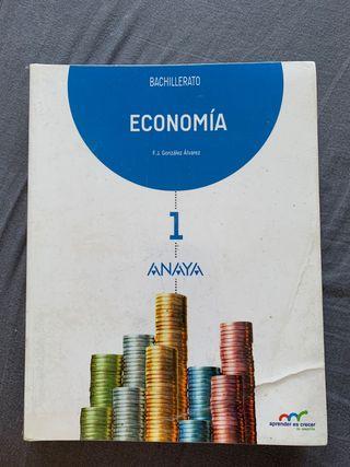 Libro Economía 1 Bachillerato ANAYA