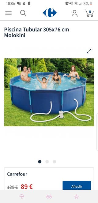 piscina tubular 305x76