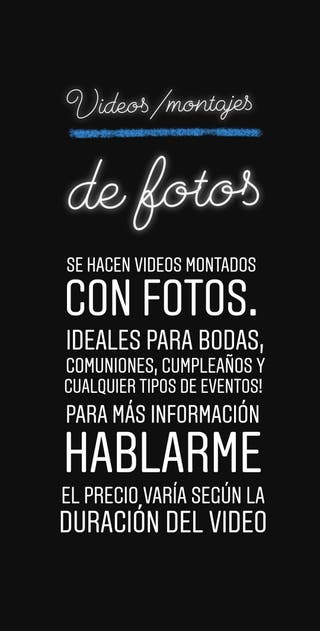 Video/montaje de fotos