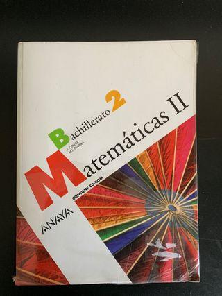 Libro de 2 Bach de Matemáticas II