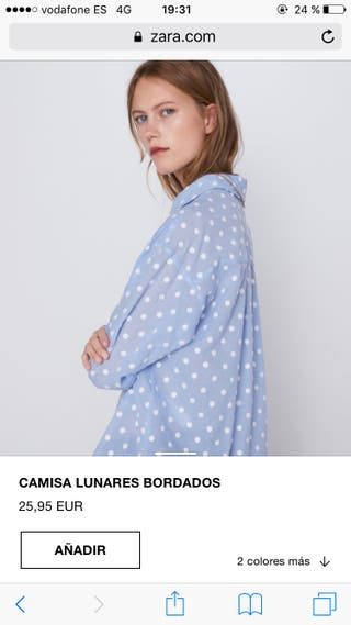 a504bb08f Camisas para mujer Zara de segunda mano en WALLAPOP