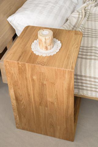 Mesa Madera Maciza Roble nórdica auxiliar de cama