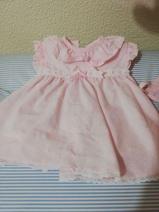 vestido de bebe de 0 a 3 meses