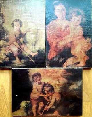 Serie de cuadros motivos religiosos. Impecables.