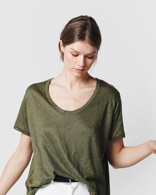 Camiseta básica lino Scalpers