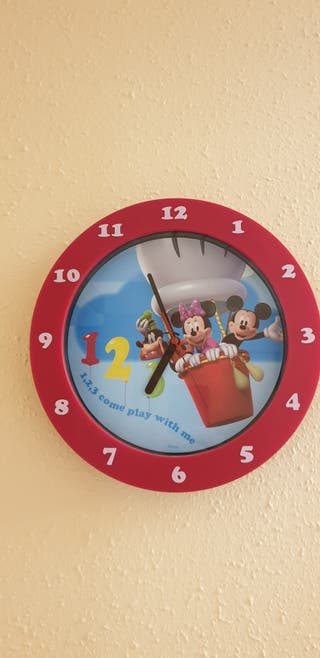 Reloj pared infantil Mickey