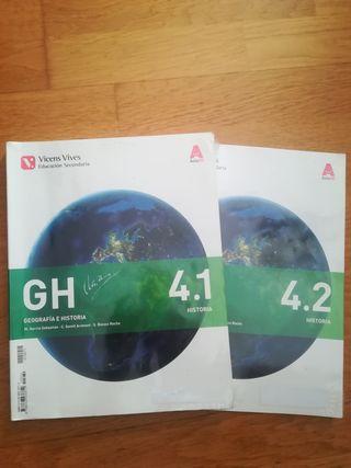 2 Libros de cuarto de secundaria