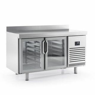 Mesa refrigerada 2 puertas cristal fondo 700