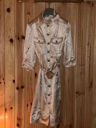 Vestido gabardina Versace