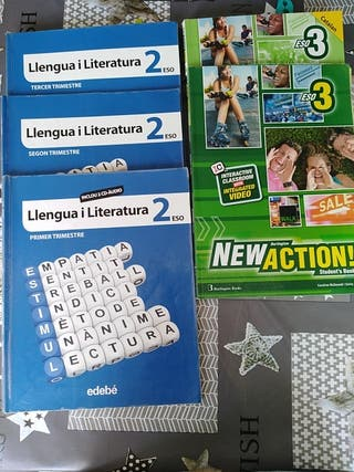 Libros de catalan y inglés