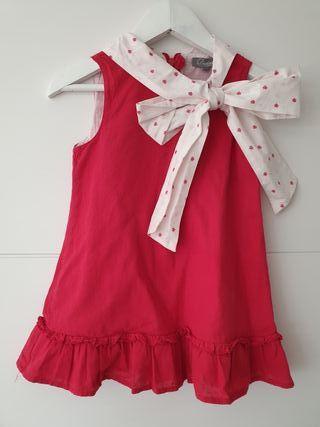 vestido rojo dadati talla 3 años