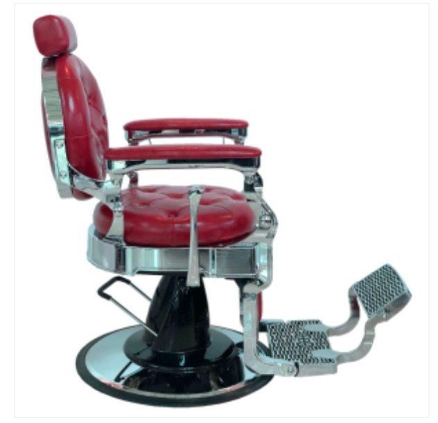 Sillon barbero polipiel rojo - NUEVO