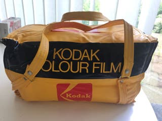 Trendy Vintage Mustard Kodak Bag