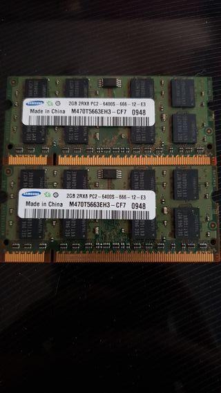 Memoria ram portatil 4gb