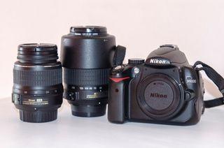 Nikon D5000 + Objetivos 18-55 y 55-200