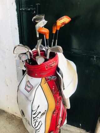 Palos de golf con bolsa de la marca Maxflit