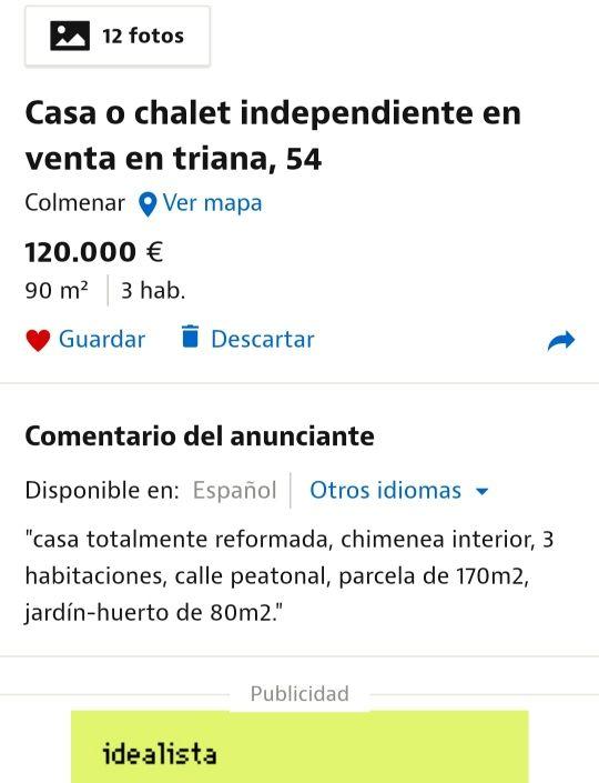 Casa o Chalet Independiente (Colmenar, Málaga)