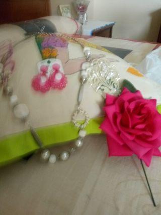 Falda rociera,blusa a juego y accesorios