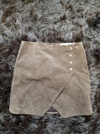 100% natural leather Zara skirt size 4
