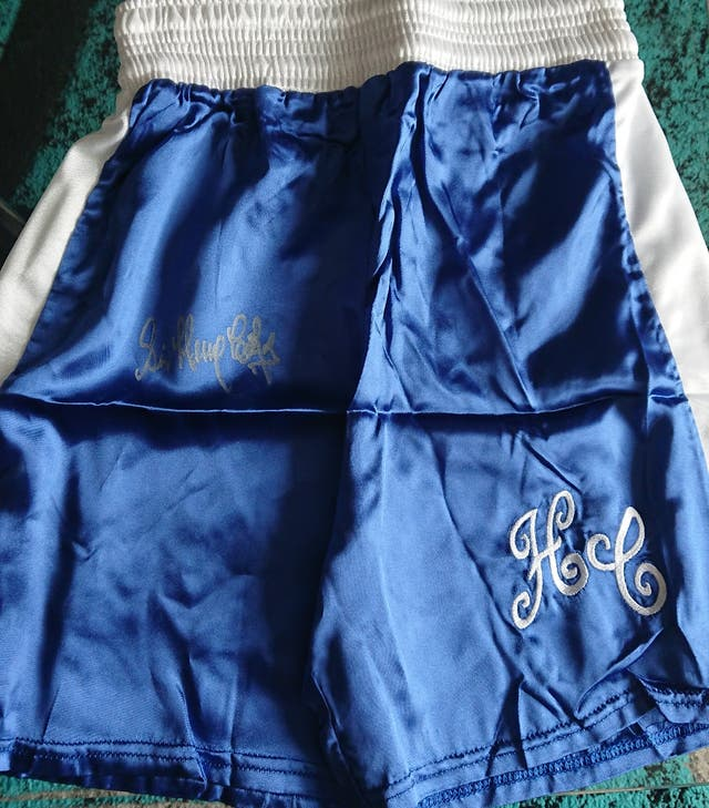 Henry Cooper signed Boxing shorts with Coa