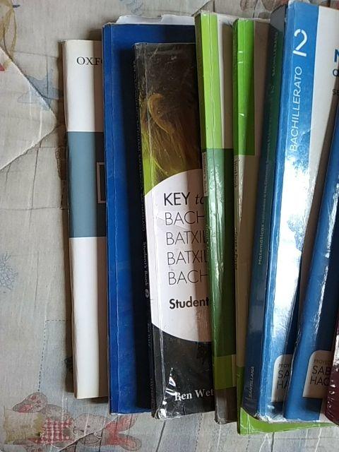 Libros de texto 2° de Bachillerato.