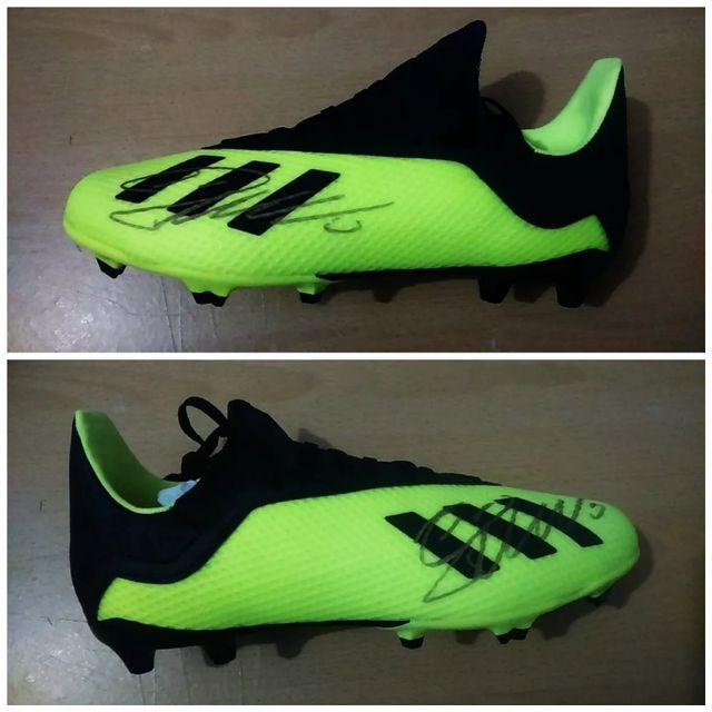 Cristiano Ronaldo hand signed Football boots Coas