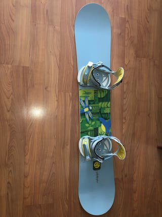 Tabla snowboard y fijaciones Santa Cruz