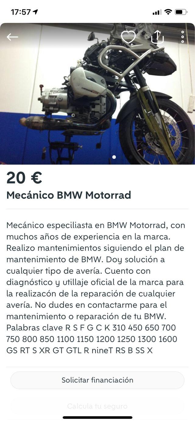 Mecanico Bmw motos Motorrad GS