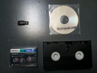 Convierto cintas de 8mm (DVmini) o VHS a digital