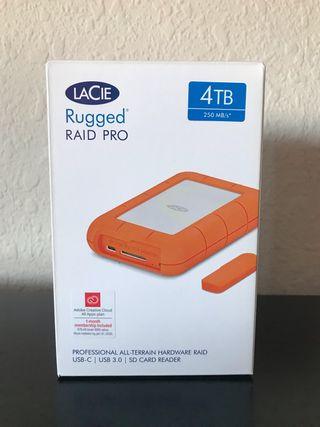 Disco duro 4TB Lacie Rugged Raid Pro.