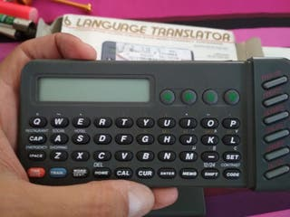 Traductor 6 idiomas, calculadora, calendario, etc