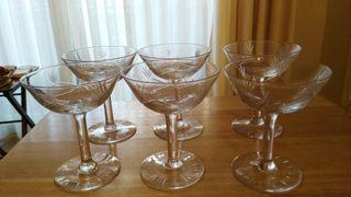 6 copas de champagne vintage