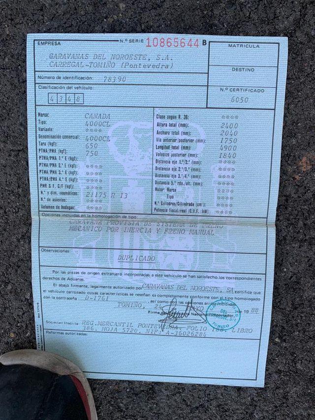 CARAVANA CATUSA CANADA **750 KGS** REFORMADA