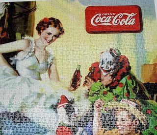 Antiguo puzzle de Coca Cola
