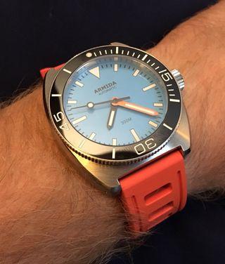 Correa de reloj o smartwatch, caucho, buceo, diver