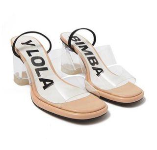 Zapatos tacón transparenre BIMBA Y LOLA
