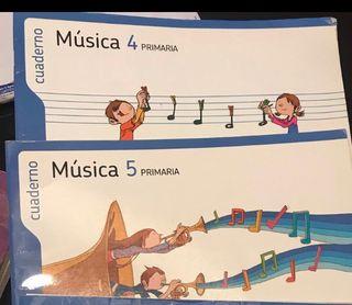 Libros de texto Música Santillana 4 y 5
