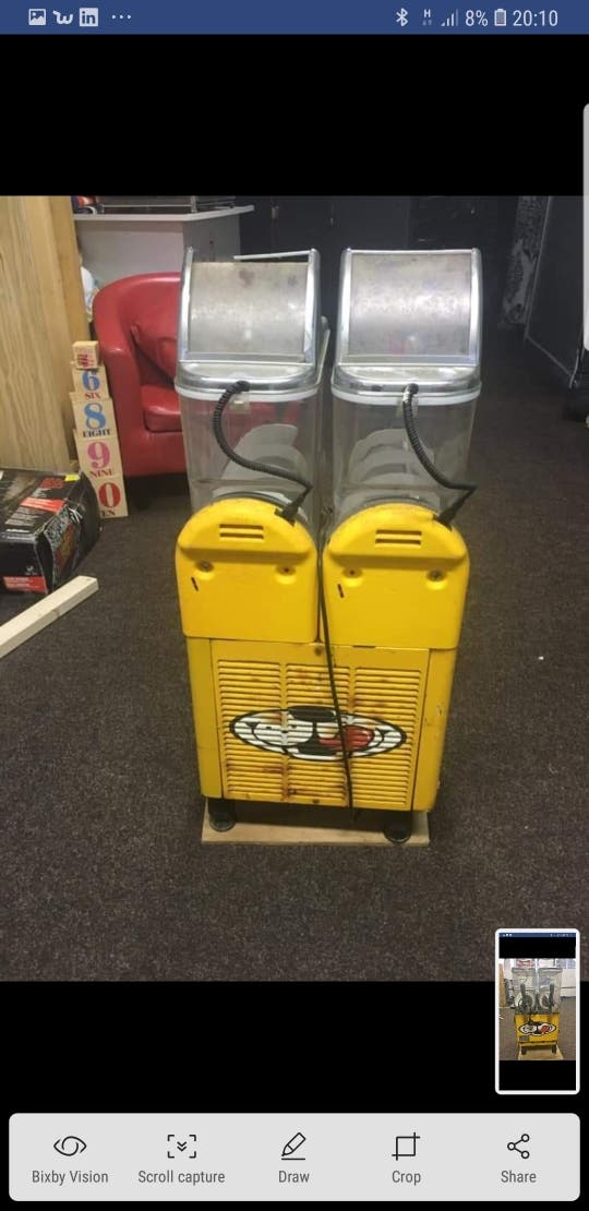 spares or repairs Twin Bowl Comercial slushie
