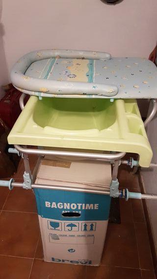 Bañera-cambiador bebe Brevi.