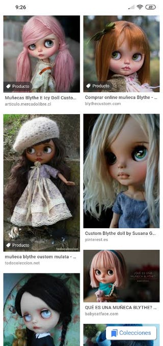 cambio por muñeca blythe