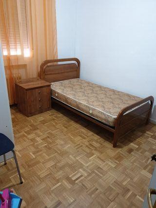 cama individual co mesilla