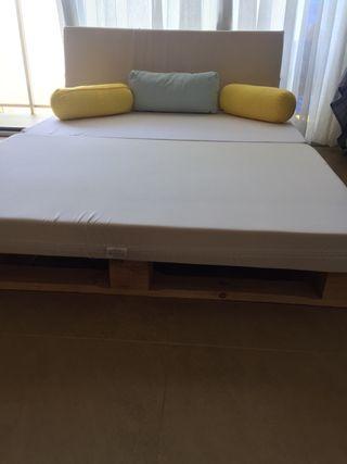 Colchon sofa palets caravanas