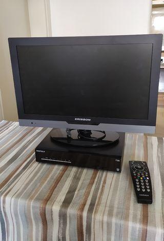"""TV 14"""" + TDT grabador 500 GB"""