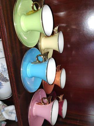 Set tazas porcelana fina galeria del colecionista