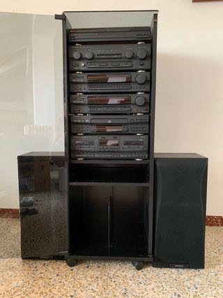 Equipo de sonido KENWOOD con Tocadiscos