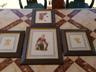 4 cuadros religiosos