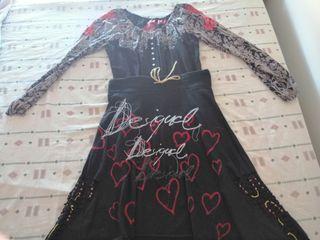 Conjunto Desigual, falda y blusa