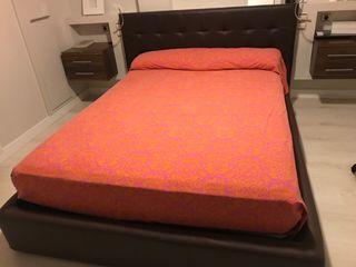 Cama de 1,50x2 canapé abatible y cabecero