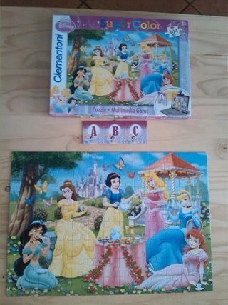Puzzle Princesas Disney + 3 cartas Multimedia Game